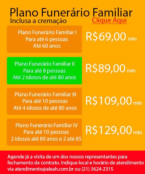 Plano Funerário Familiar - A partir de R$69,00 mensais - Clique aqui e proteja a sua família